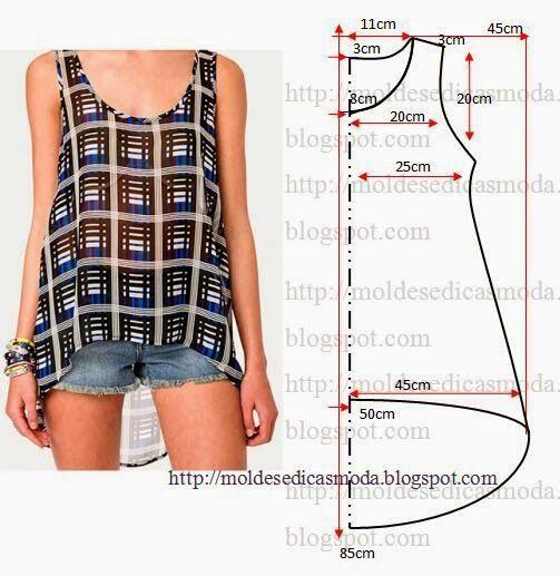 swing tank top sewing pattern - Google Search                              …