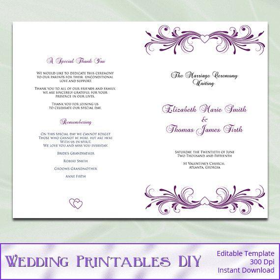 Viac ako 20 najlepších nápadov na Pintereste na tému Diy wedding - program templates word