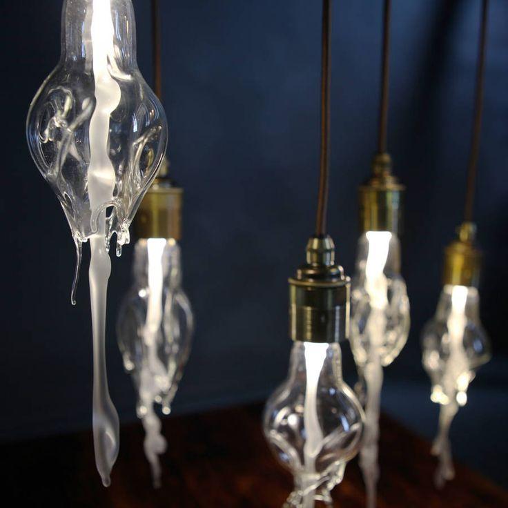 Melting Glass Bulb Pendant Light