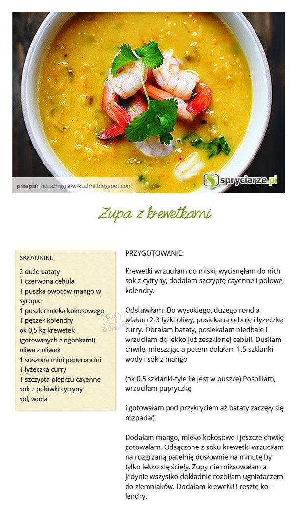Przepis na zupę z krewetkami