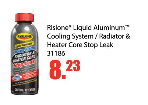 Rislone Liquid Aluminum Cooling System / Radiator & Heater Core Stop Leak is on sale for only $8.23 EA. This special runs until February 28, 2017. Cooling system and radiator stop leak with Xtreme Cool to help prevent overheating and reduce water temperature. Formulated to permanently seal coolant leads that cause many over heating problems Guaranteed to safely and easily seal leaks in plastic, aluminum and metal (copper/steel) radiators, heater cores, gaskets and freeze plugs. Works in…