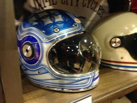 Helmets for sale.