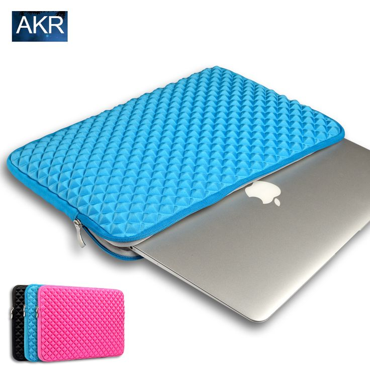 Laptop Sleeve bag For MacBook Air 13 sleeve case Pro Retina 11 12 13 15 inch Shockproof Fashion Diamond Style Free shipping