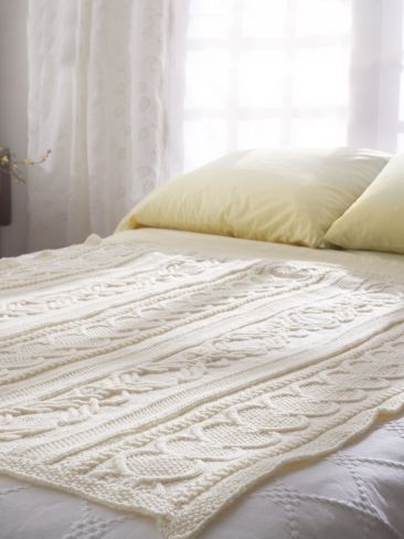 Free Pattern: Gift of Love Cable Afghan