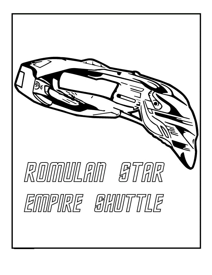Romulan Star Empire Shuttle coloring picture for kids