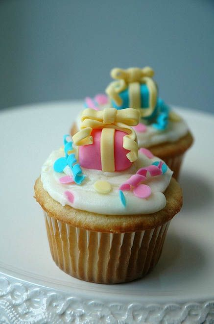 Year end birthday party cupcakes