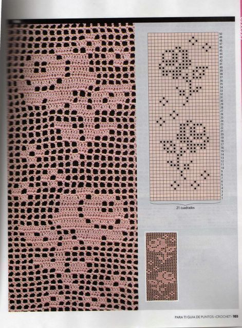 Crochet... Filet edgings chart...