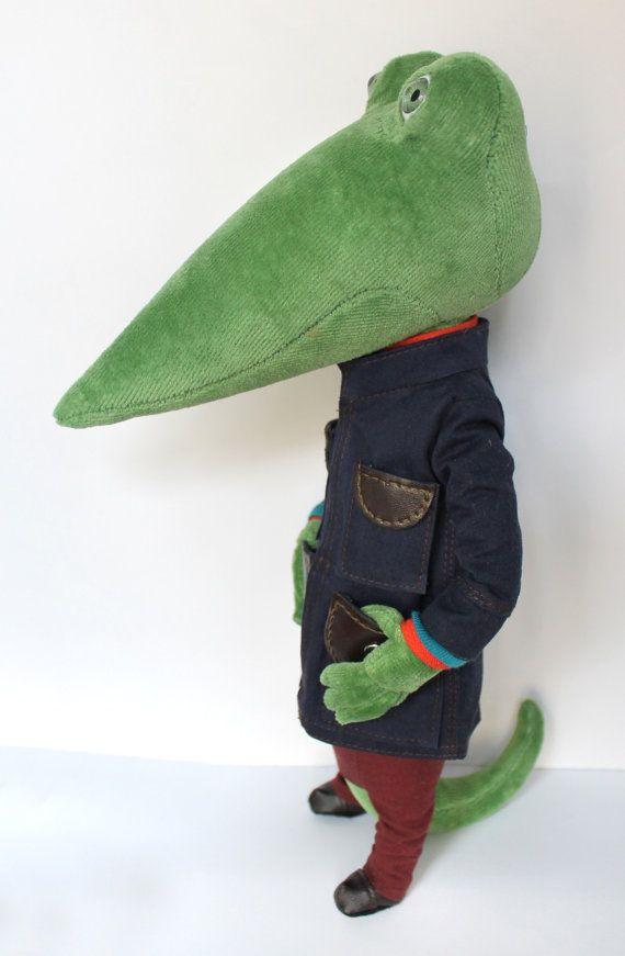 Green crocodile por takiyaje en Etsy