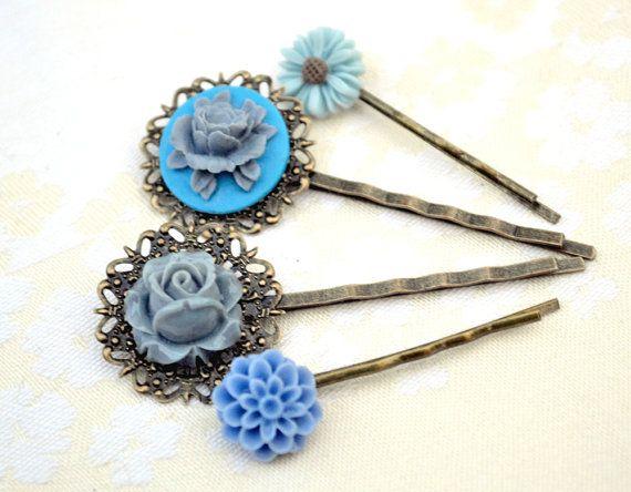 Mother's day saleGray and blueflower bobby by artemisartdesign, $16.00