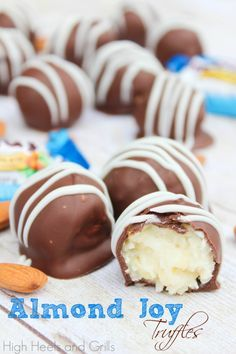 These Almond Joy Truffles taste better than Almond Joys, believe it or not. They're a chocolate dessert recipe you can't miss!