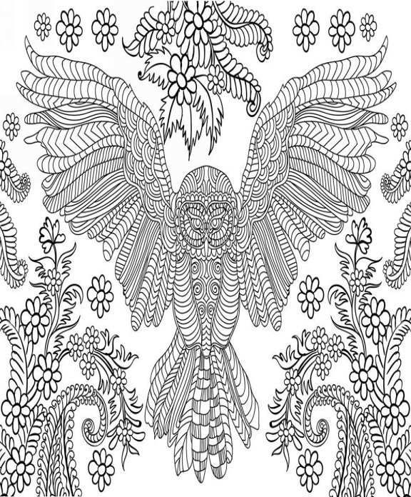 stress relieving coloring pages owls - photo#11