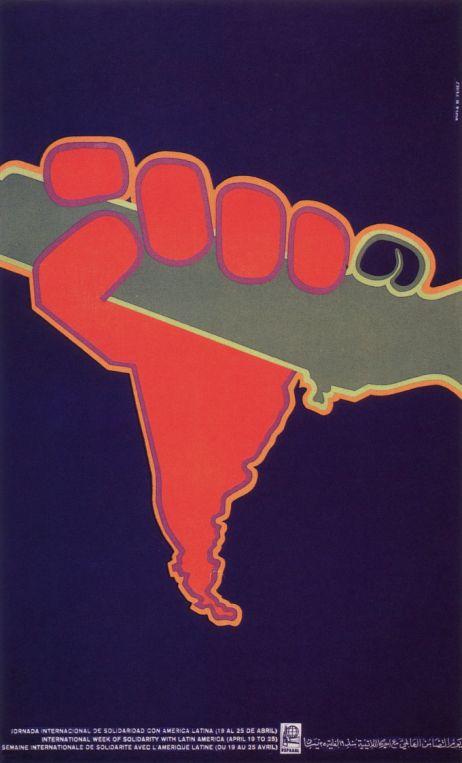 Asela Pérez, International Week of Solidarity with Latin America, 1970