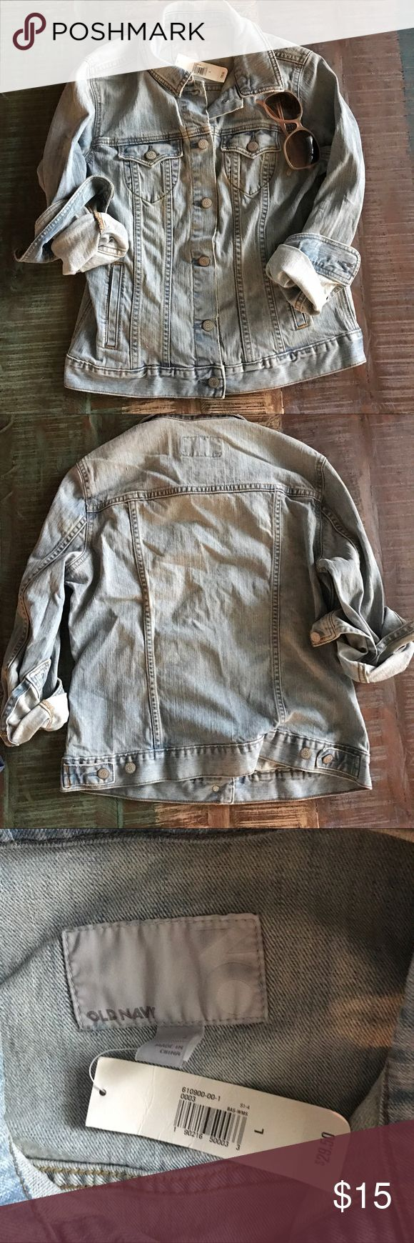 NWT Old Navy Jean Jacket Old Navy Jean Jacket NWT Size Large.       Glasses not included Old Navy Jackets & Coats Jean Jackets