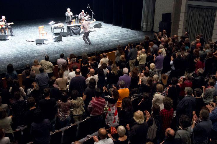"""""""Bestemmia d'amore"""" by Pippo Delbono and Enzo Avitabile. Photo by Chiara Ferrin VIE Festival 2014 #music #theatre"""