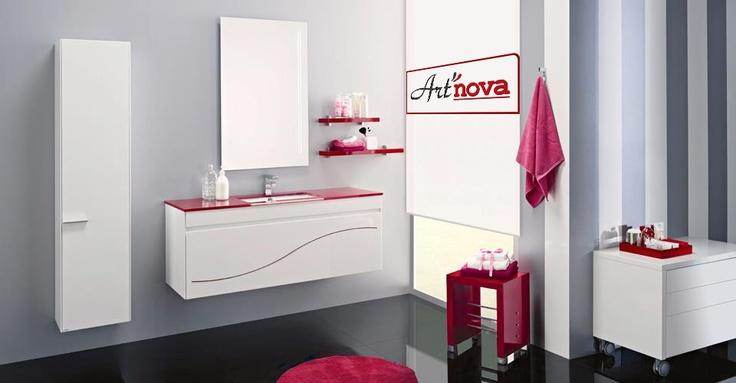 La salle de bain Onda dispose d'un #design jeune et moderne, avec une touche féminine.