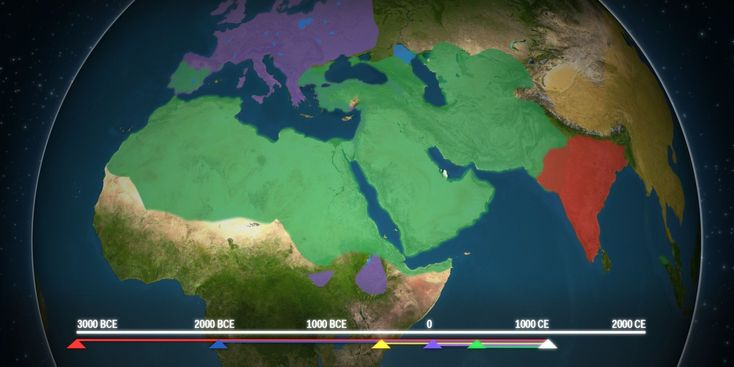 This animated map shows how religion spread across the world  Read more: http://www.businessinsider.com/map-shows-how-religion-spread-around-the-world-2015-6#ixzz3gawI7wB3