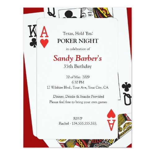 120 best Casino Birthday Party Invitations images on Pinterest - best of invitation birthday party text