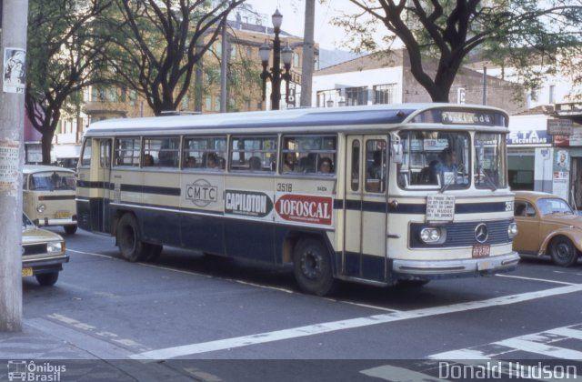 Ônibus da empresa CMTC - Companhia Municipal de Transportes Coletivos, carro 3518, carroceria Mercedes-Benz Monobloco O-362, chassi Mercedes-Benz O-362. Foto na cidade de São Paulo-SP por Donald Hudson, publicada em 03/08/2014 05:40:05.