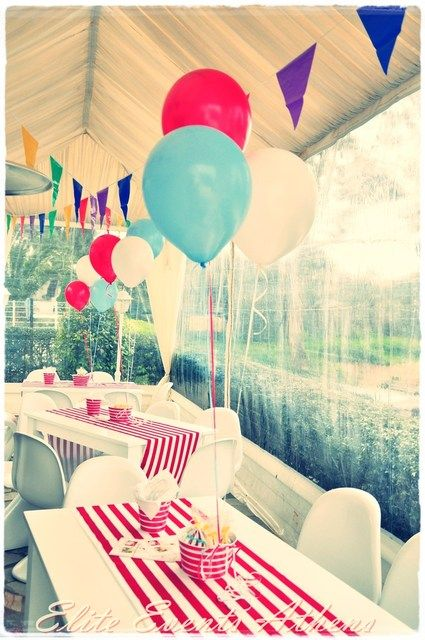 "Photo 1 of 52: Circus, Carnival, Vintage Circus, Acrobats / Birthday ""Circus Birthday Party"" 