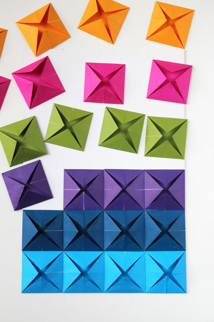 The 25+ best Origami wall art ideas on Pinterest   Origami ...