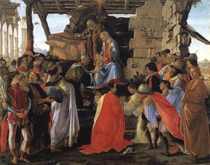 Adoration of the Magi | Sandro Botticelli, Adoration of the Magi, c. 1475-1476, tempera on panel, Uffizi, Florence