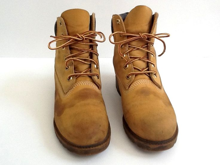 Timberland Women's Leather Boots, 8 Medium, Women's Leather Waterproof Boots, Leather Hiking Boots, Work Boots, Made in USA by GentlyKept on Etsy