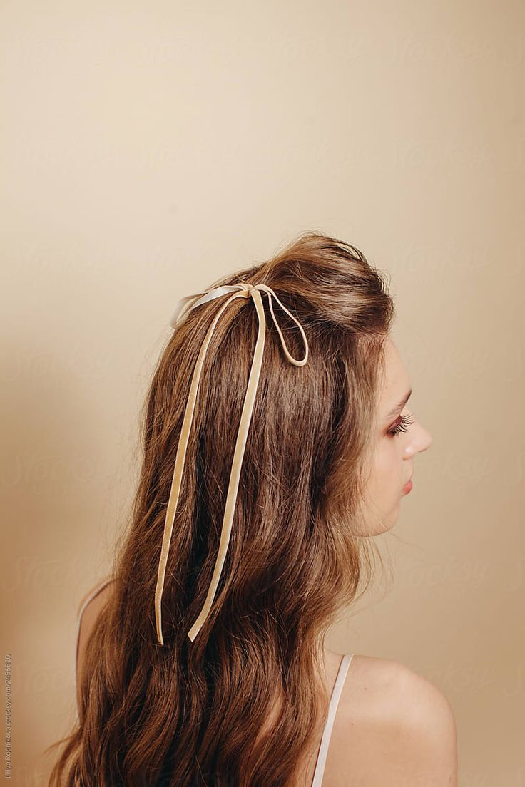 Stock Photo Beautiful Long Blond Hair And Cute Bow hairstyles ...