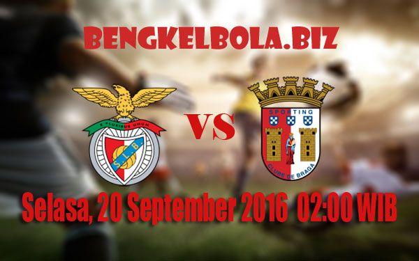 Prediksi Benfica vs Sporting Braga 20 September 2016