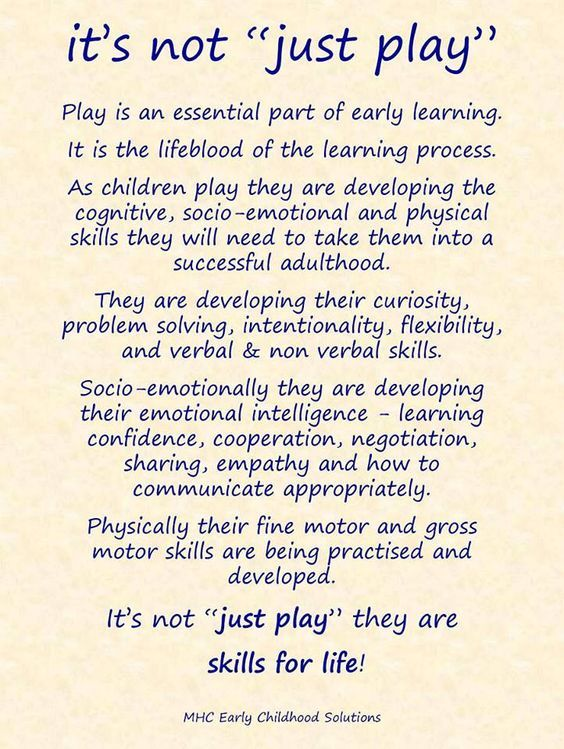 """It's Not Just Play"" (from MHC Early Childhood Solutions) - this is why early childhood educators do more than just 'play'."