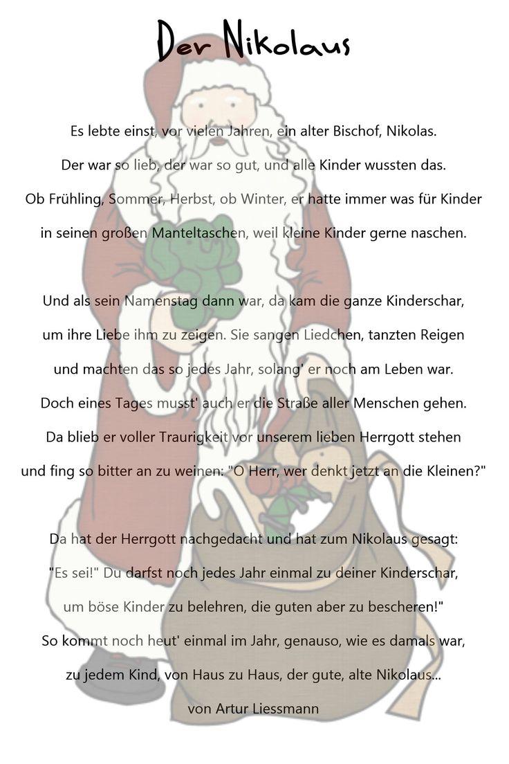 Nikolaus Legende Für Kindergarten