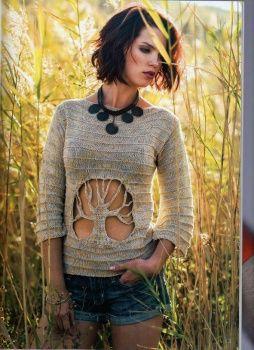 Как связать свитер с деревом / Вязание / Своими руками - выкройки, переделка одежды, декор интерьера своими руками - от ВТОРАЯ УЛИЦА