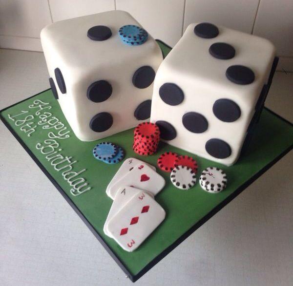 Poker Table Cookie Grooms Cake