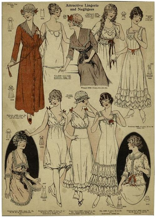 Lingerie and negligees from 1915.: Attraction Lingerie, 1910 S, 1915 Fashion, Long Hair, 1910S Hair, Fashion Books, Months Fashion, 1910S Fashion, 1915 Lingerie