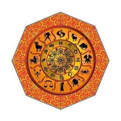 Astrology Horoscopes Zodiac Custom Foldable Rain Umbrella Wind Resistant Windproof Floding Travel Umbrella by Hertanercase