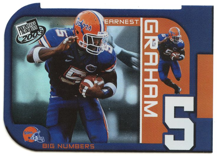 Earnest Graham # BN 10 - 2003 Press Pass Football - Big Numbers