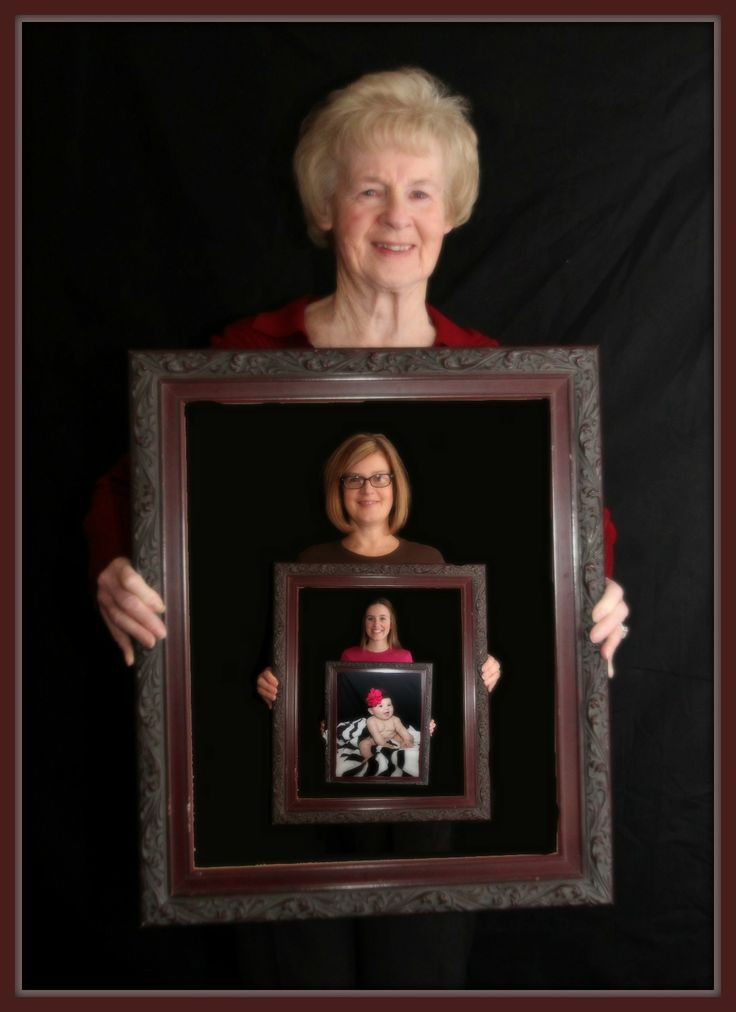four generations picture frame pose