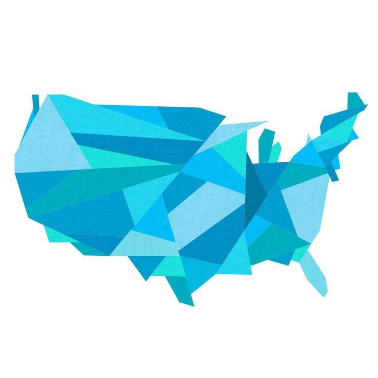 Geometric Continental United States Pattern | Craftsy