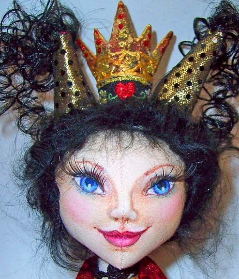 http://www.etsy.com/listing/54431921/the-red-queen A great handmade OOAK art doll I saw on Etsy.