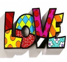Britto Love Sculpture - Pop Art Miami