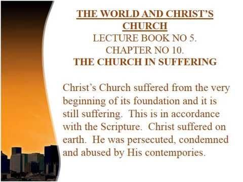 KINGDOM LECTURE - 120K.  THE CHURCH IN SUFFERING. http://www.lighthouseklerksdorp.co.za/Lighthouse_Cape_Town.html or e-mail. lighthousecapetown@gmail.co.za