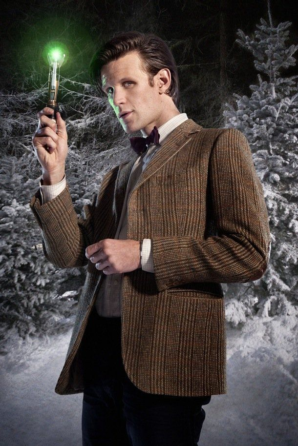 "The Doctor with Sonic Screwdriver in ""The Doctor, the Widow and the Wardrobe"""