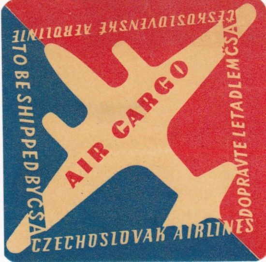 czechoslovak airlines posters vintage