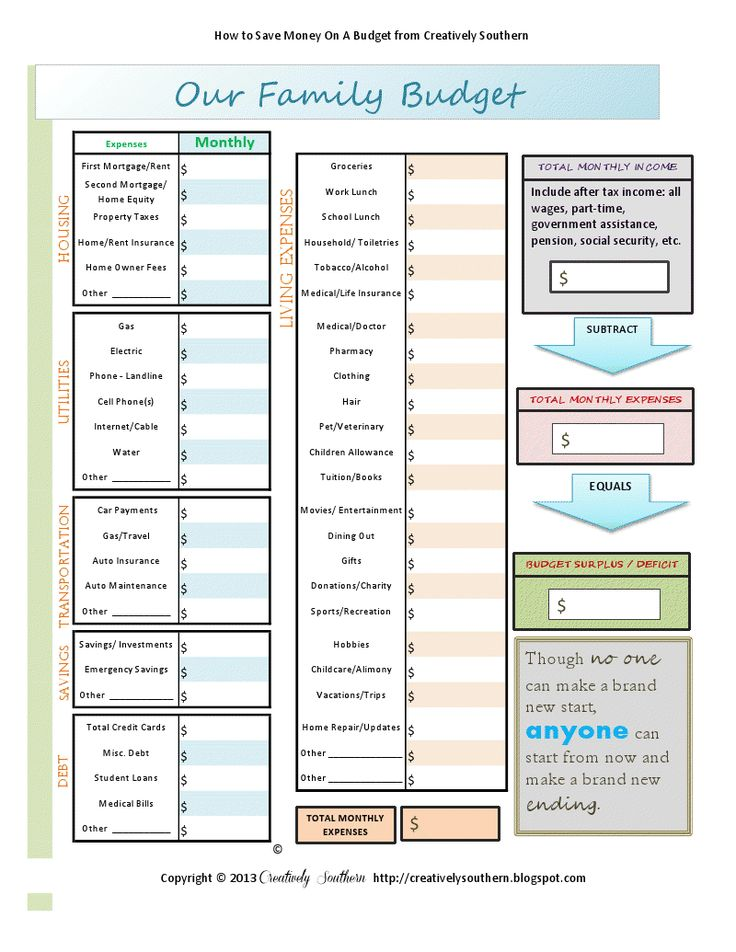 Best 20+ Printable Budget Worksheet Ideas On Pinterest | Free