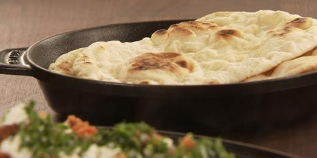 Naan Bread.  From ' Chucks-Day-Off'!  My man makes it all the time and its awesome!