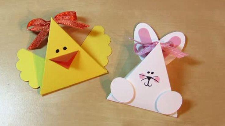 Húsvéti dekoráció papírból: nyúl és csibe az asztalra  http://www.nlcafe.hu/otthon/20150322/husvet-2015-husveti-dekoracio-papirbol/