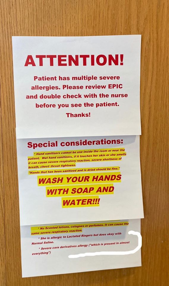A Sign Made By A Hospital For The Door Of A Patient With A Corn
