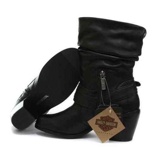 Harley-Davidson Boots for Women | The Harley Davidson Solstice Womens Slouch Biker Boots are great ...