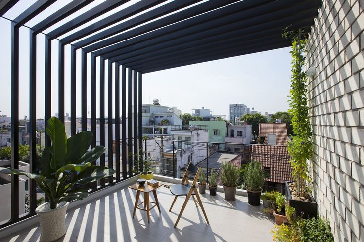 Vietnamese Town House - Picture gallery #architecture #interiordesign #terrace