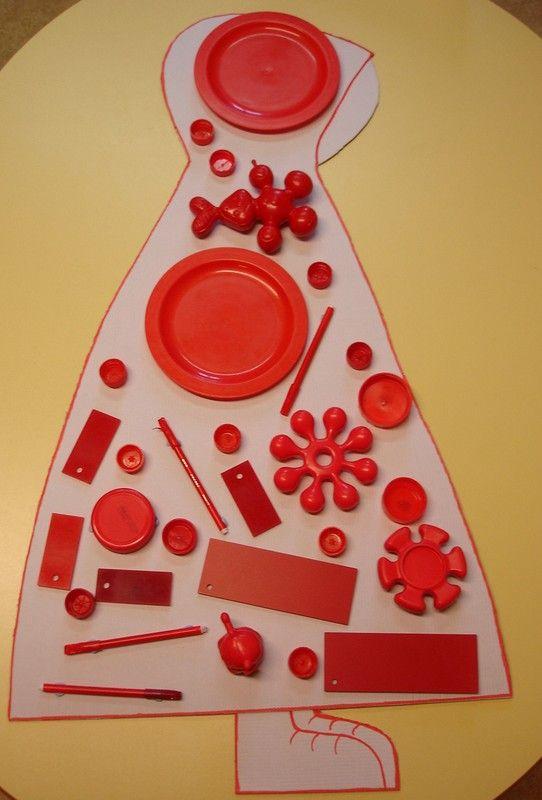 zoeken van allemaal rode spullen voor ROODkapje
