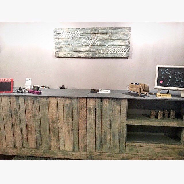 Annabelle - Cash Wrap checkout counter reception desk point of sale with front display shelves- made to order by oursolecreations on Etsy https://www.etsy.com/listing/499120391/annabelle-cash-wrap-checkout-counter  #handmade #cashwrap #receptiondesk #distressedwood #distressedpaint #madeinla #spa #retailfurniture #distressedwoodwallsign #woodsign #frontshelves #etsyshop